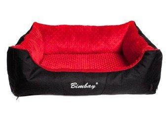 Kanapa legowisko Bimbay Minky XL czarno czerwona
