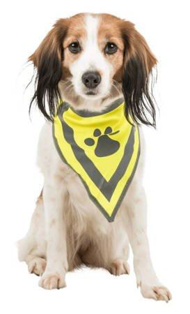 Bandana dla psa z odblaskiem - rozmiar XS/S
