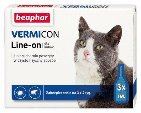 Preparat spot-on chroniący koty przed kleszczami i pchłami - 3 sztuki