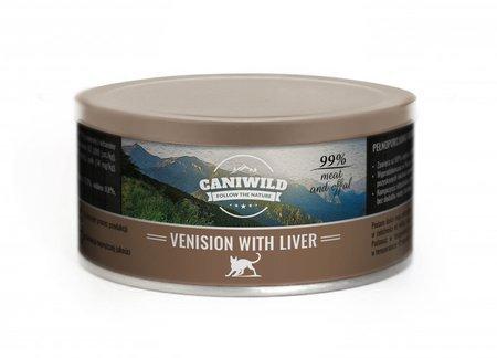 Caniwild Venision with Liver 99% mięsa i podrobów – puszka z zamykanym wieczkiem – 300 g