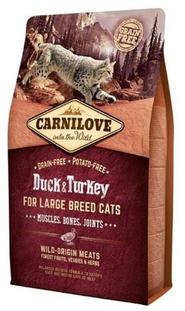 Carnilove Cat Duck & Turkey for Large Breed - kaczka i indyk