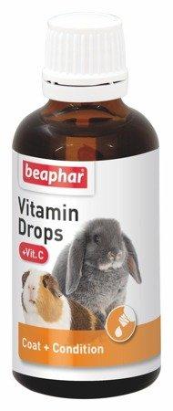Dodatek witaminowy dla gryzoni i królików Vitamin Drops + Vit. C 50ml