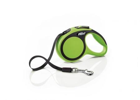 Flexi New Comfort Smycz automatyczna taśma 3m zielona