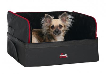 Fotelik, kojec samochodowy ze schowkiem dla psa - 45x38x37 cm