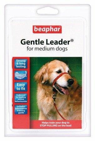 Kantar, obroża uzdowa dla psów średnich ras Gentle Leader czerwona