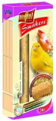 Kolby dla kanarków o smaku biszkopta z sezamem - 2 sztuki