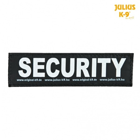 Naszywka Security na rzep do szelek Julius-K9® 2 sztuki