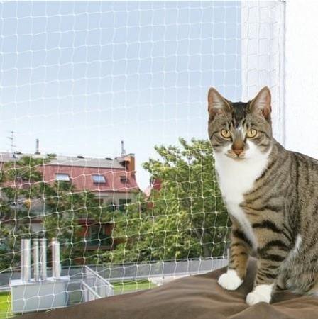 Nylonowa siatka zabezpieczająca okno - 6x3 m - transparentna