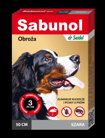 Obroża przeciw pchłom i kleszczom dla średnich psów szara 50 cm