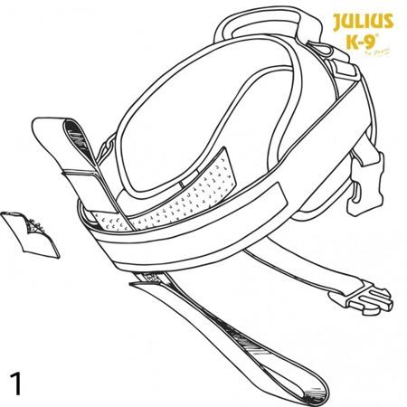 Pas do szelek Julius-K9® czarny