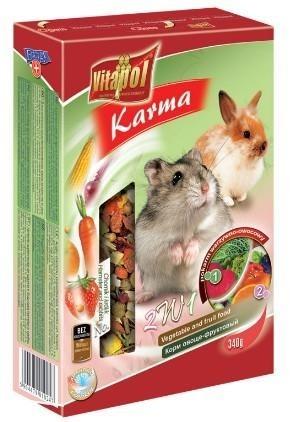Pokarm 2w1 dla chomików owocowo-warzywny - 340 g