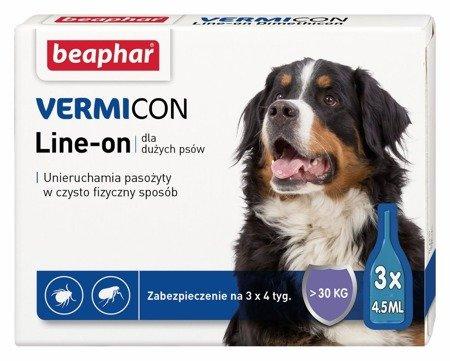 Preparat przeciwko kleszczom i pchłom Spot On dla psów dużych ras - 3 sztuki