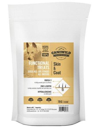 Przysmaki wspomagające skórę i sierść Caniwild Skin & Coat Treats 70g