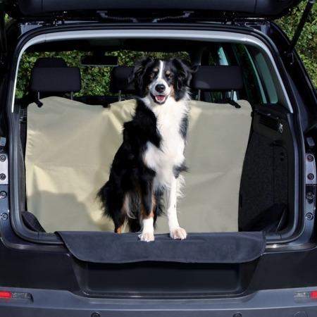 Samochodowa mata dla psa do bagażnika - beżowy i czarny - 180x130 cm