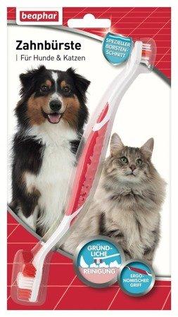 Szczoteczka dwugłowicowa do zębów dla psów i kotów wszystkich ras Zahnburste