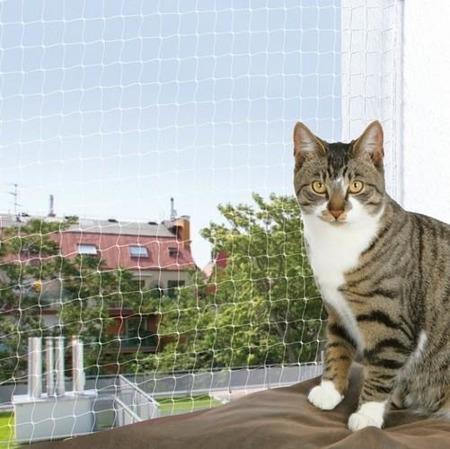 Siatka na drzwi balkonowe i okna - 8x3 m - transparentna